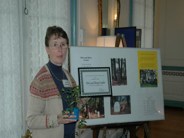 Ann Horvath accepted award on behalf of the Fowlers