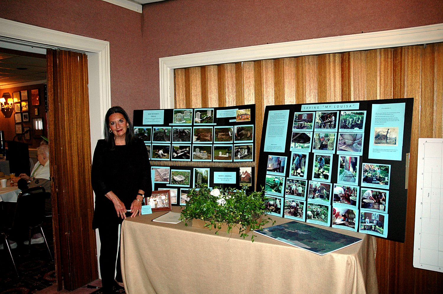 Bridget Blake and the All Hallows Parish Cemetery Committee Display