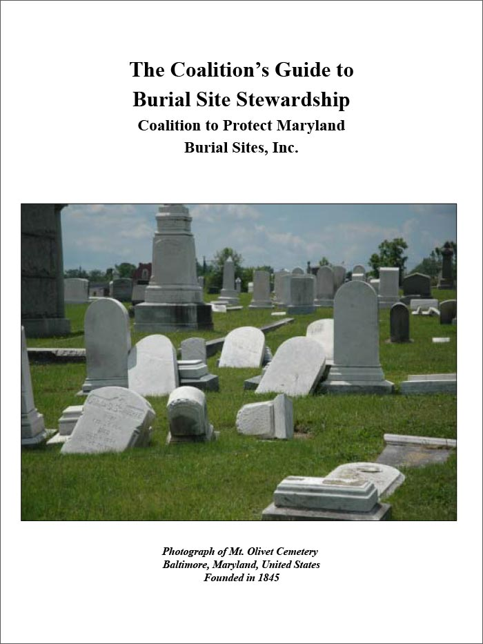 Coalition to Protect Maryland's Burial Sites Guide